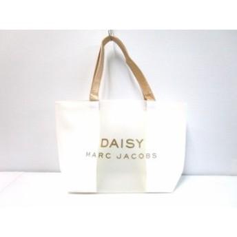 マークジェイコブス MARC JACOBS トートバッグ レディース 白×ゴールド×クリア DAISY PVC(塩化ビニール)×合皮【中古】20190704