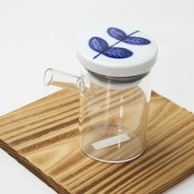 醤油さし 液だれしない aoba・大 ガラスのボディ 陶器(波佐見焼)の注ぎ口 クリアポット