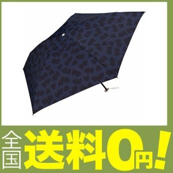 ワールドパーティー(Wpc.) 雨傘 折りたたみ傘 ネイビー 50cm 超軽量90g ハートシャドー ミニ AL-014 NV