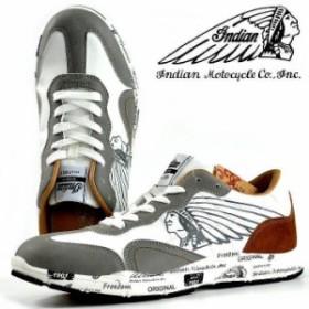 822c7f0e254 スニーカー シューズ 靴 メンズ ブランド Indian Motocycle レノックス Lenox 軽量 幅広 IND-11506 ホワイト  190327