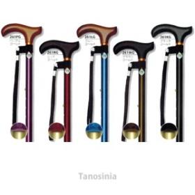 介護用品 素敵歩行 ツートンステッキ 10段階調整 杖ピタ付 介護杖 伸縮ステッキ