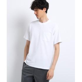 TAKEO KIKUCHI(タケオキクチ) 梨地 クルーネック Tシャツ