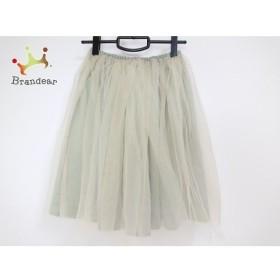 チェスティ Chesty スカート サイズ0 XS レディース 美品 グリーン×ベージュ チュール  値下げ 20190915