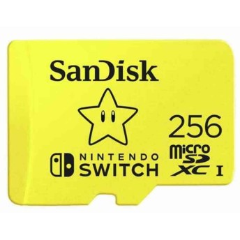 256GB microSDXCカード for Nintendo Switch マイクロSD SanDisk サンディスク UHS-I R:100MB/s W:90MB/s 海外リテール SDSQXAO-256G-GNCZA ◆メ