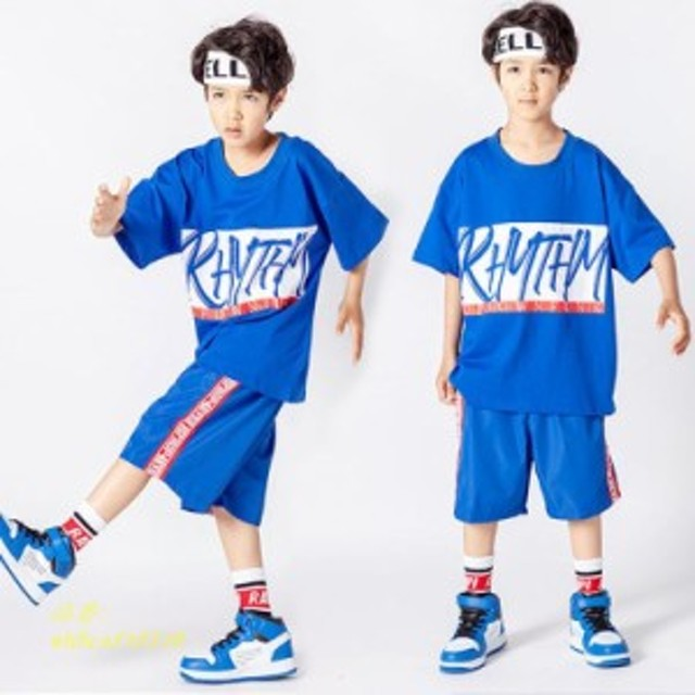 キッズダンス衣装 ヒップホップ HIPHOP 子供 ダンストップス ダンス衣装 ダンスウェア ステージ衣装 練習着 セットアップ 男の子 女の子