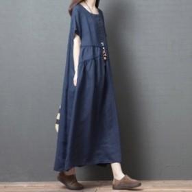 シャツワンピース オーバーサイズ レディース ワンピース 半袖 ゆったり 大きいサイズ 春夏新作