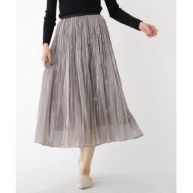 DRESSTERIOR / ドレステリア 分繊サテンワッシャープリーツスカート