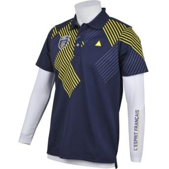 大特価!ルコックゴルフ(le coq sportif GOLF) 半袖シャツ QGMLJA00W-NV00 ネイビー メンズ