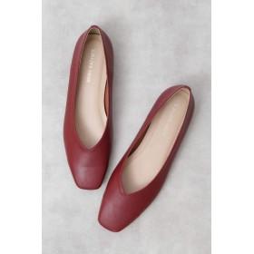 【公式/NATURAL BEAUTY BASIC】スクエアソフトフラット/女性/靴・パンプス/ダークレッド/サイズ:24.0/(甲皮の使用材)合成皮革(底材の種類)合成底