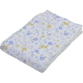 京都西川 5CK204 ブルー シングル 敷きパッド