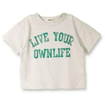 【25%OFF】 ブランシェス グリッターロゴ半袖Tシャツ(90~140cm) レディース ベージュ 120cm 【branshes】 【セール開催中】