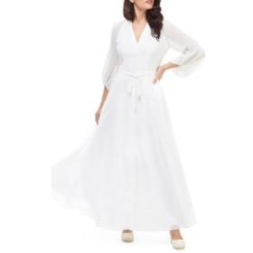 ギャルミーツグラムコレクション レディース ワンピース トップス Gal Meets Glam Collection Pearl Balloon Sleeve Maxi Dress White