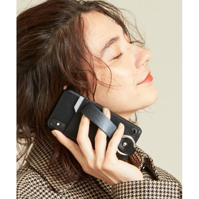 ビューティ&ユース ユナイテッドアローズ ∴<tov>レザーiPhone X/XS スライドパスケース レディース BLACK FREE 【BEAUTY & YOUTH UNITED ARROWS】
