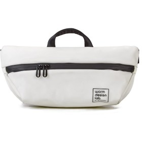 カバンのセレクション ワームデザインラボ ボディバッグ ウエストバッグ メンズ レディース フェス 防水 撥水 worm design lab 4677 ユニセックス ホワイト フリー 【Bag & Luggage SELECTION】