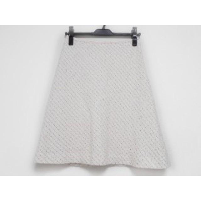 ハロッズ HARRODS スカート サイズ1 S レディース 美品 白×レッド ツイード/ラメ【中古】20190705
