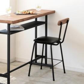 天然木 パイン無垢材 ブレス BREATH カウンターチェア スツール チェア バーチェア 背もたれ付き ダイニング いす 椅子 チェアー スチール