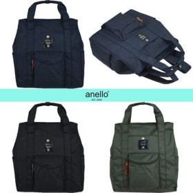 アネロ リュックサック AT-N0071 anello バッグ 2WAY スクエアリュック トート キャンバス ブラック/カーキ/ネイビー
