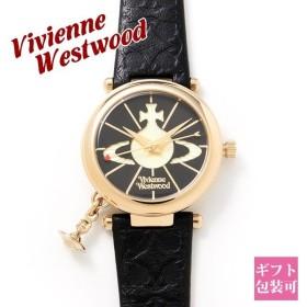 ヴィヴィアンウエストウッド 腕時計 レディース 時計 ブラック VWVV006BKGD オーブ 革ベルト シンプル