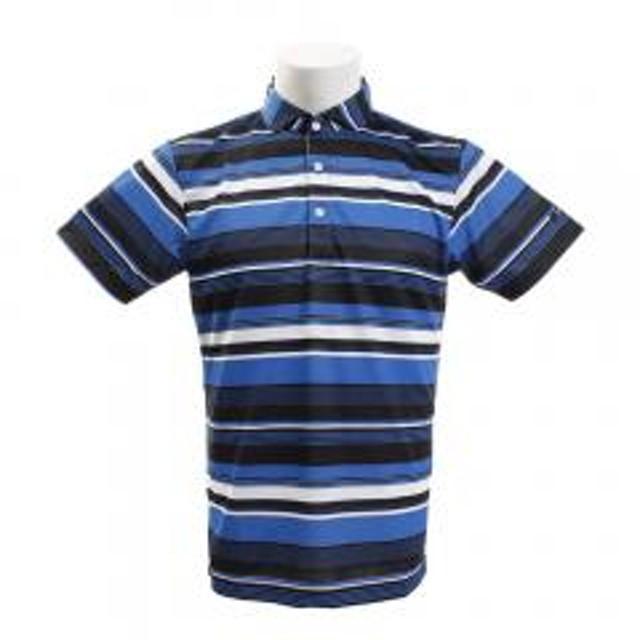 60dc5d95524f2 タイトリスト(TITLEIST) ゴルフウェア メンズ マルチボーダープリント 半袖ポロシャツ TSMC1923BL(Men's)