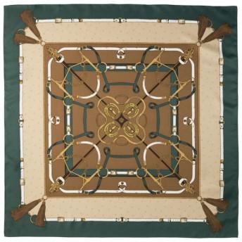 (GU)ヴィンテージプリントスカーフ DARK GREEN