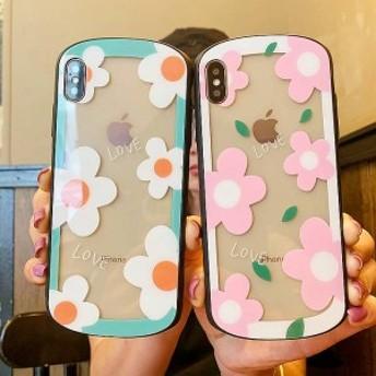 2019新作スマホケース iPhoneXs iPhoneX iPhone XR iPhoneXs MAXケース 全機種対応スマホケース可愛い花柄カップルiPhoneケースKJS0440