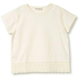 (branshes/ブランシェス)【プチプラ】裾レース半袖Tシャツ(90-150cm)/レディース アイボリー