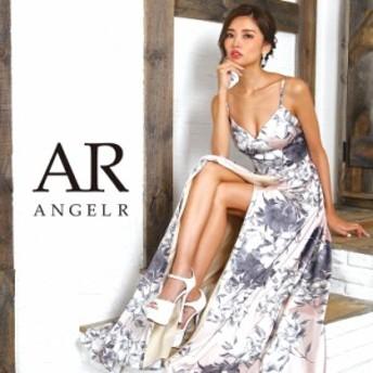 Angel R エンジェルアール ドレス キャバ ドレス キャバドレス エンジェル アール ドレス フラワープリントフレアロングドレス フレア 花