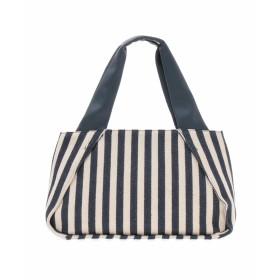 HIROKO BIS ストライプキャンバスバッグ