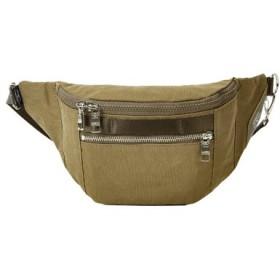 (Bag & Luggage SELECTION/カバンのセレクション)アッソブ ウエストバッグ ファニーパック メンズ レディース ブランド ミニ 小さめ AS2OV SHRINK NYLON 091705/ユニセックス カーキ
