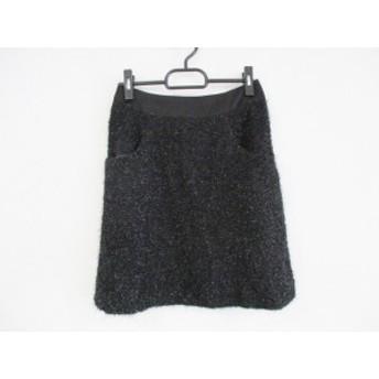 ジャスグリッティー JUSGLITTY スカート サイズ2 M レディース 黒 ツイード/ラメ【中古】20190705