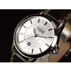 COACH コーチ New Classic Signature ニュー クラシック シグネチャー 14501396 シルバー×ブラウン レディース 腕時計