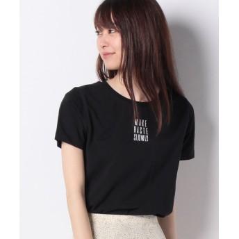 イーハイフンワールドギャラリー ベア天クルーロゴTシャツ レディース ブラック F 【E hyphen world gallery】