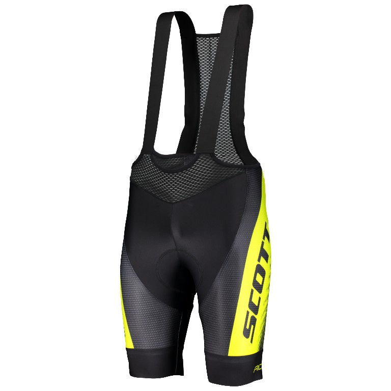 SCOTT RC PRO+++ BIBSHORT 車隊系列吊帶車褲(black/sulphur yellow)