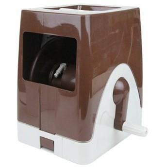 20M巻用カバー付空リール/セフティー3/散水用品/散水ホースリール/brown