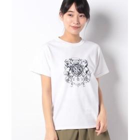 アルアバイル ヴィンテージエンブレムTシャツ レディース ホワイト 02 【allureville】
