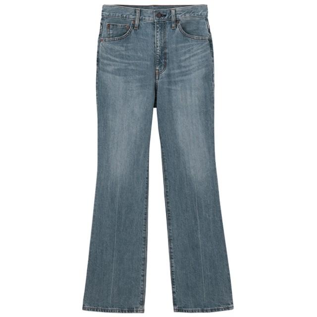 (GU)セミフレアジーンズ(股下72cm) BLUE L
