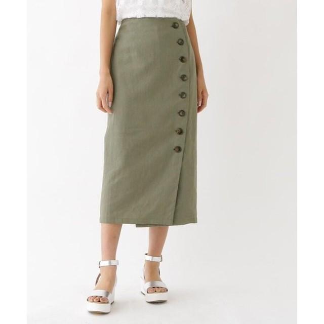 aquagirl / アクアガール チノフロントボタンスカート