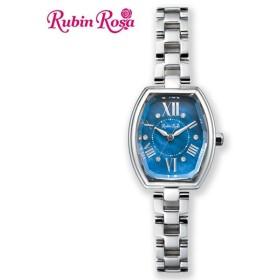 ルビンローザ Rubin Rosa レディース 腕時計 ブルーパール/SS ソーラーチャージ 日常生活防水