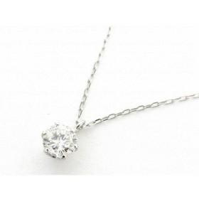 ジュエリー 一粒 ダイヤモンド ネックレス PT900 プラチナxPT850(プラチナ)xダイヤモンド0.339ct  ランクA