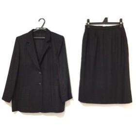 レリアン Leilian スカートスーツ サイズ11 M レディース 黒【中古】20190704