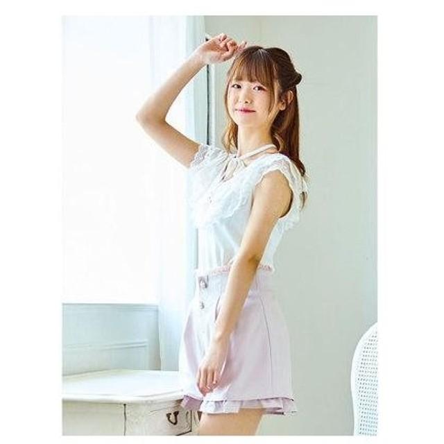 ロジータ ROJITA 裾レイヤードフリルショーパン (ベージュ)