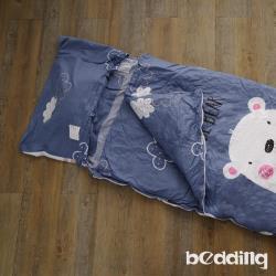 BEDDING-幼稚園必備-兒童冬夏兩用鋪棉睡袋-快樂熊寶-灰