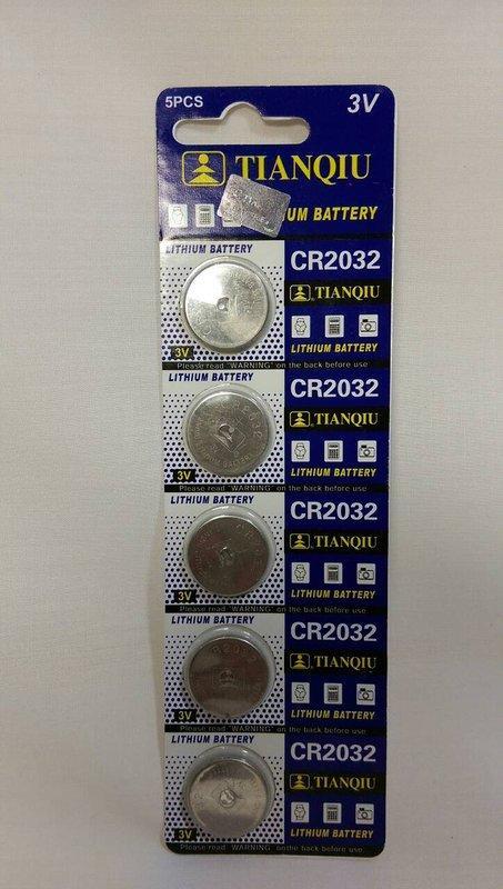 水銀電池3V CR2032 1卡5入裝~水銀電池 電池《八八八e網購