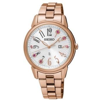 クリスマス限定1000個!SEIKO セイコー LUKIA ルキア SUT302J1 シルバー×ピンクゴールド 腕時計 レディース