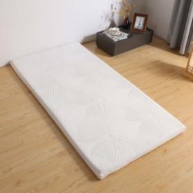 Avenco マットレス 白 100x200x5cm 腰痛改善 カバー洗える 収納袋付き 1年メーカ保証 通気性 高反発+低反発マットレ