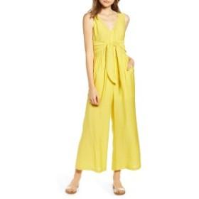 ビーピー レディース ワンピース トップス BP. Tie Waist Wide Leg Jumpsuit (Regular & Plus Size) Yellow Light
