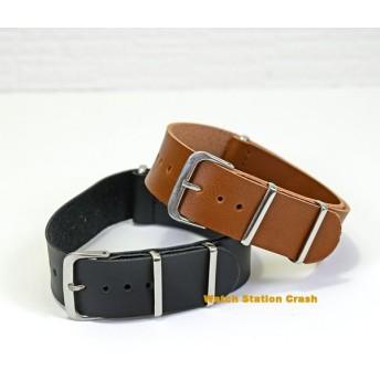 Natoタイプ 腕時計用 交換バンド TIMEX SEIKO CASIO...etc ストラップ フェイクレザー ベルト 20mm ブラウン ブラック メール(郵便)で発送