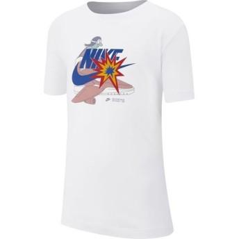 [NIKE]ナイキ ジュニアトレーニング YTH DISTORTED アイコン Tシャツ (CI9615)(100) ホワイト/(ゲームロイヤル)[取寄商品]
