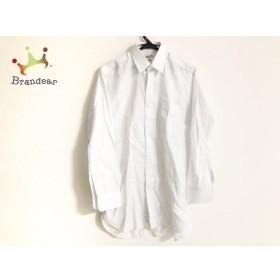 クリスチャンディオールムッシュ 長袖シャツ メンズ 白×ライトブルー×ライトグレー 格子柄   スペシャル特価 20191004