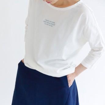 blue bird: organicコットン藍染糸刺繍Tシャツ